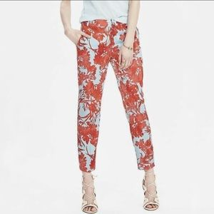 Banana Republic Tropical Floral Crop Ankle Pants 4